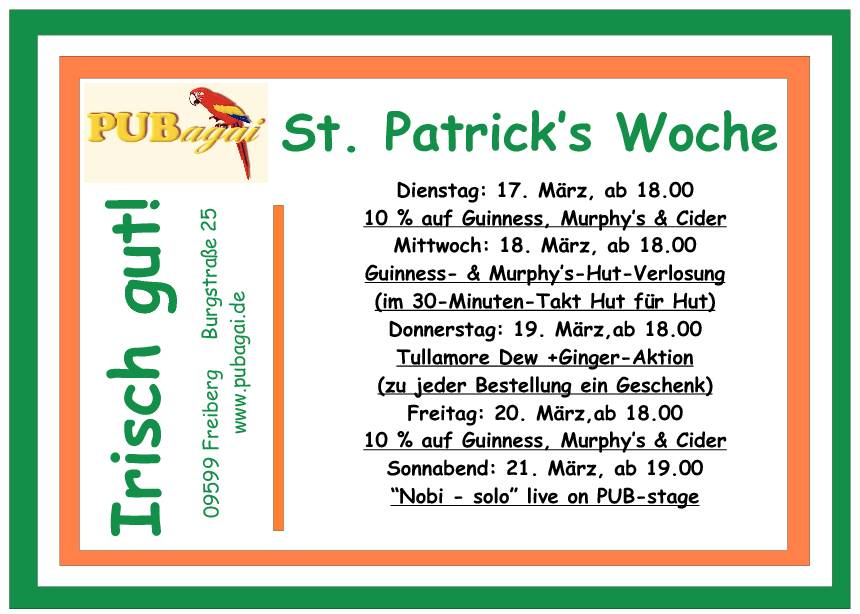 St. Pstrick's Woche-Page-1